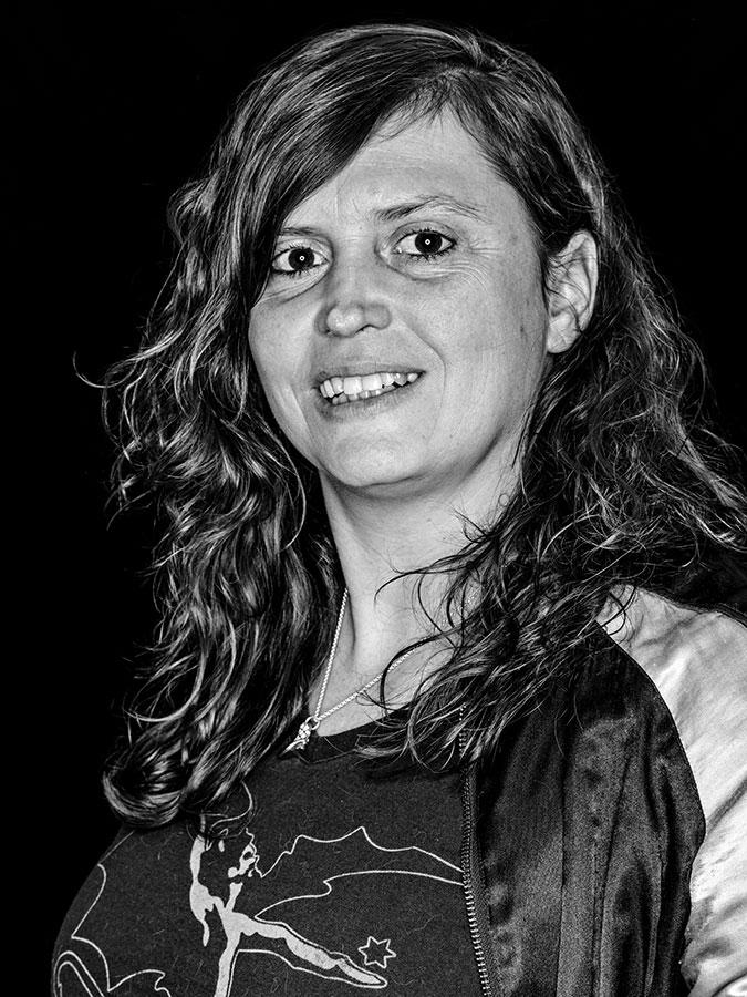 DJane Stella Faces of St. Pauli - eine Portrait-Reihe in Schwarz-Weiss