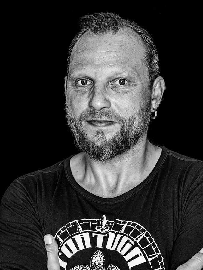 Hayni – Käptn der Tortuga Bar Faces of St. Pauli - eine Portrait-Reihe in Schwarz-Weiss