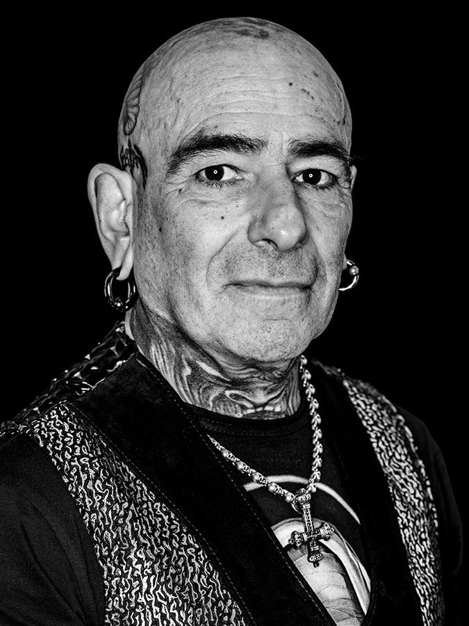 Klaus Torture Faces of St. Pauli - eine Portrait-Reihe in Schwarz-Weiss
